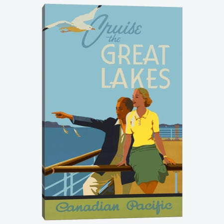 Couple, Cruise the Great Lakes Canadian Pacific Canvas Print #PCA319} by Print Collection Canvas Print