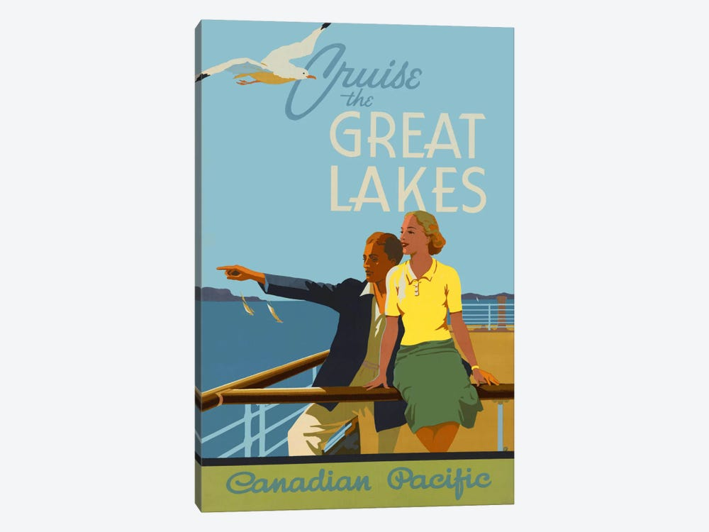 Couple, Cruise the Great Lakes Canadian Pacific by Print Collection 1-piece Art Print
