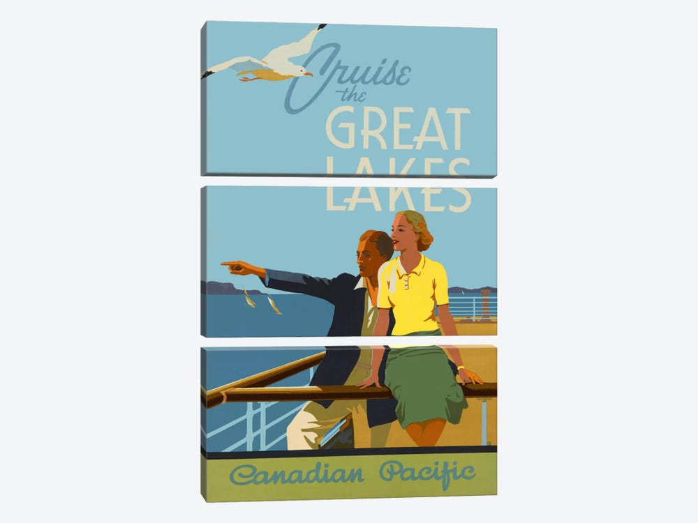 Couple, Cruise the Great Lakes Canadian Pacific by Print Collection 3-piece Canvas Art Print