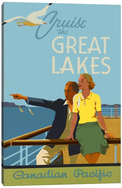 Couple, Cruise the Great Lakes Canadian Pacific Canvas Art Print