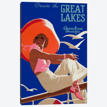 Cruise the Great Lakes Canadian Pacific Canvas Print #PCA320} by Print Collection Canvas Artwork