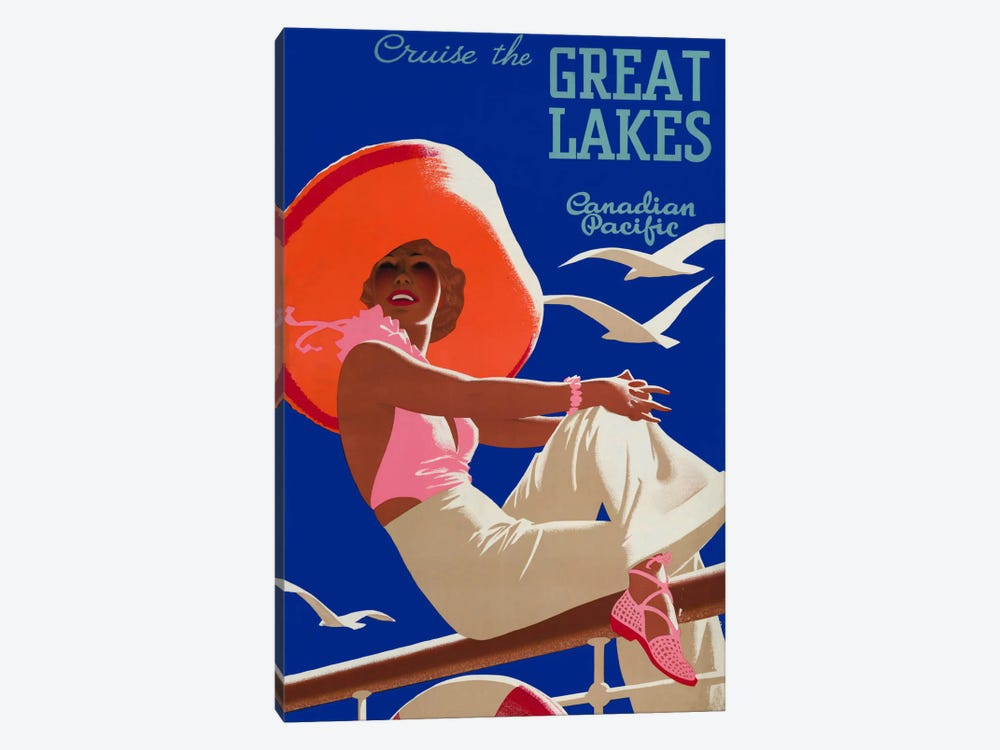 Cruise the Great Lakes Canadian Pacific by Print Collection 1-piece Art Print
