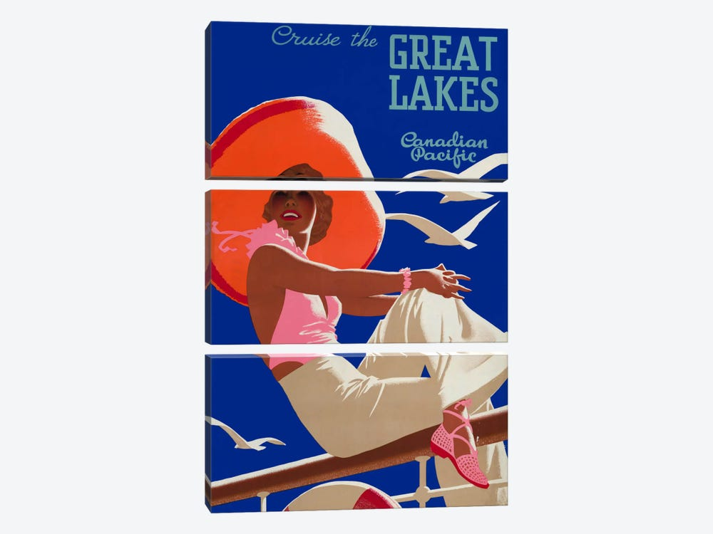 Cruise the Great Lakes Canadian Pacific 3-piece Canvas Art Print
