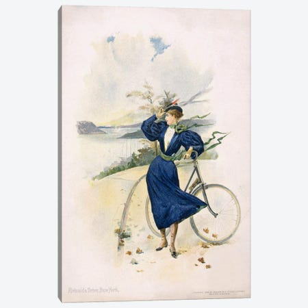 Cycling, Riverside Drive, New York Canvas Print #PCA321} by Print Collection Canvas Artwork
