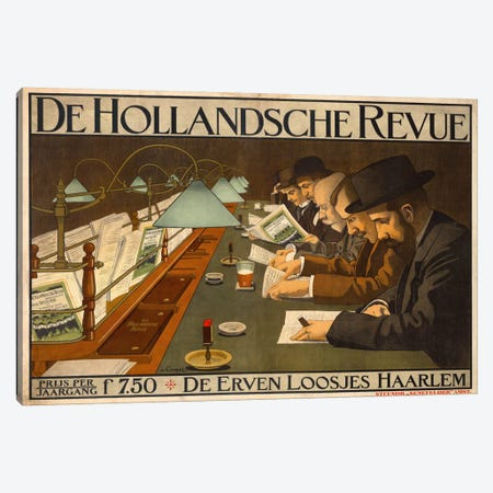 De Hollandsche Revue Canvas Print #PCA322} by Print Collection Canvas Artwork