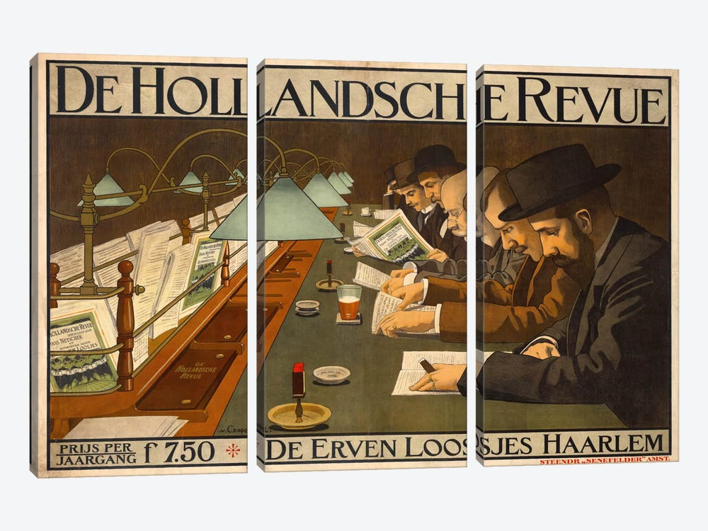 De Hollandsche Revue by Print Collection 3-piece Canvas Print