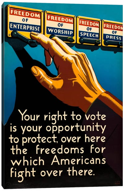 Don't Forget to Vote Today Canvas Art Print
