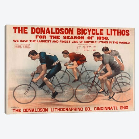 Donaldson Bicycle Lithos for 1896 Season Canvas Print #PCA325} by Print Collection Canvas Print