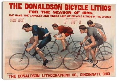 Donaldson Bicycle Lithos for 1896 Season Canvas Art Print