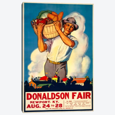 Donaldson State Fair Poster Canvas Print #PCA326} by Print Collection Art Print