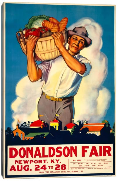 Donaldson State Fair Poster Canvas Art Print