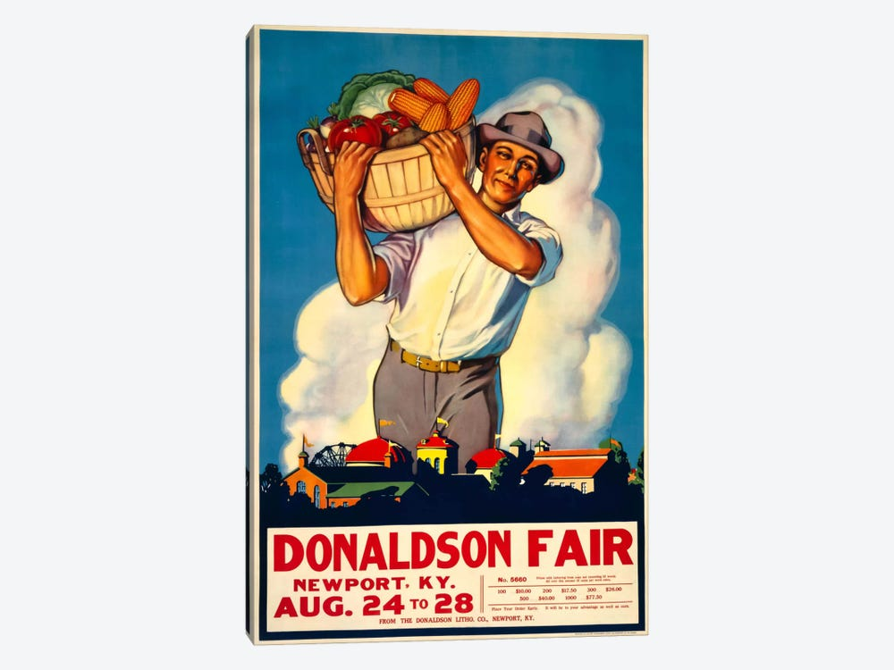 Donaldson State Fair Poster by Print Collection 1-piece Art Print