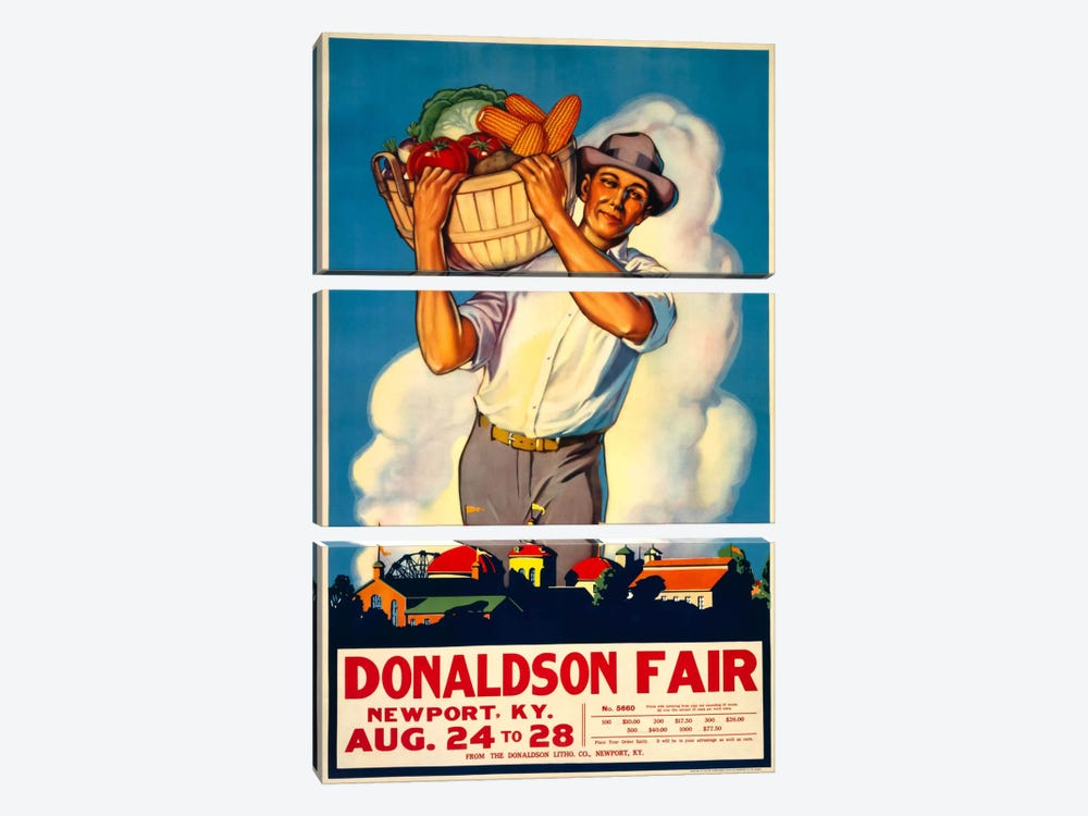 Donaldson State Fair Poster by Print Collection 3-piece Canvas Print