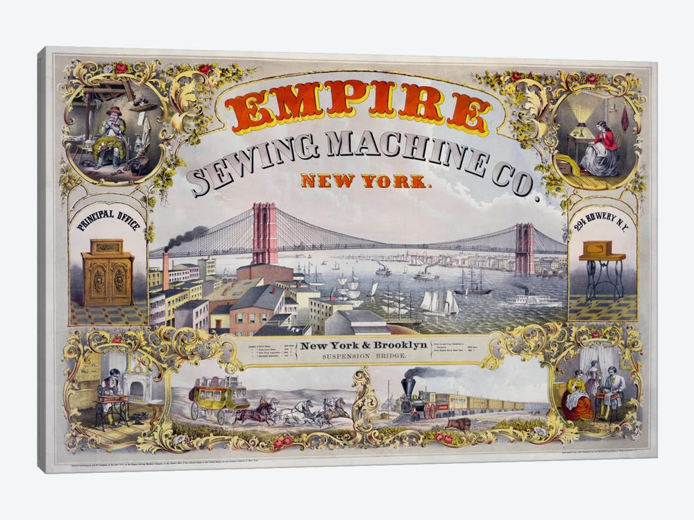 Empire Sewing Machine Co. by Print Collection 1-piece Canvas Artwork