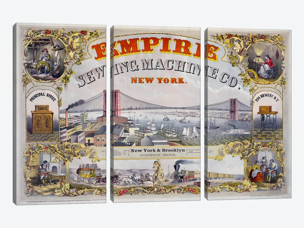 Empire Sewing Machine Co. by Print Collection 3-piece Canvas Art