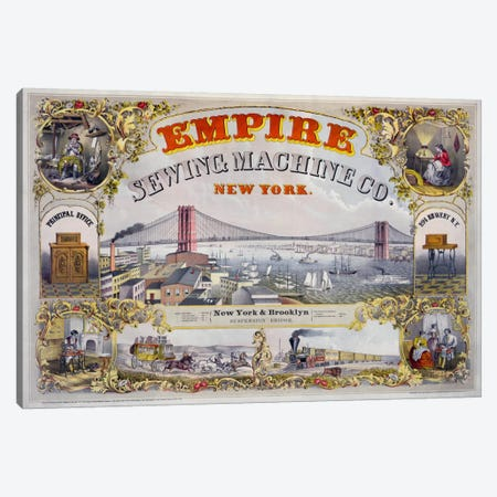 Empire Sewing Machine Co. 3-Piece Canvas #PCA327} by Print Collection Canvas Print