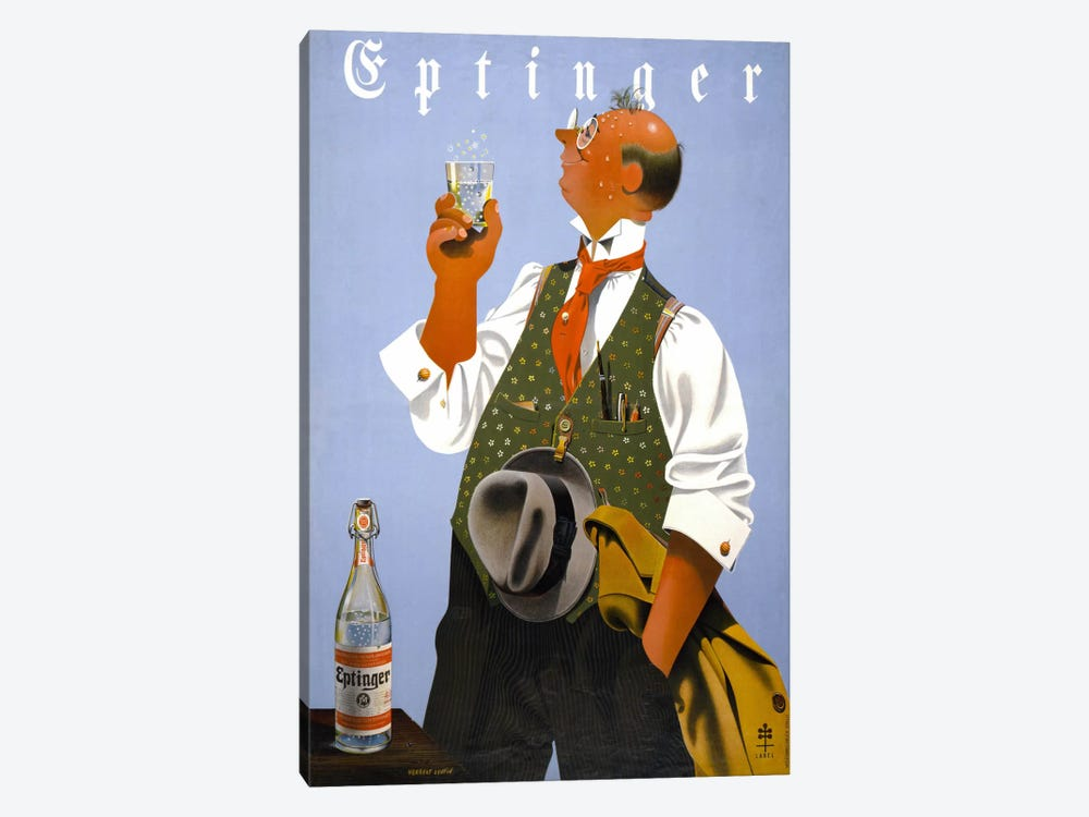 Eptinger by Herbert Leupin by Print Collection 1-piece Canvas Art Print