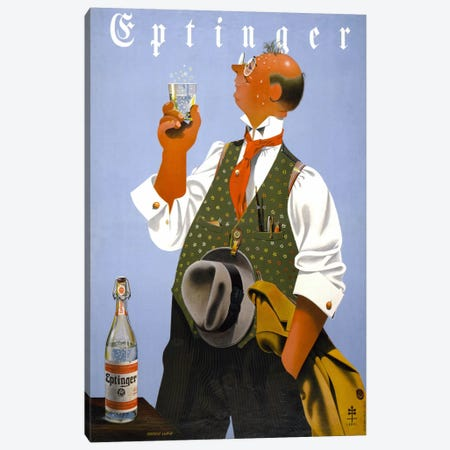 Eptinger by Herbert Leupin Canvas Print #PCA328} by Print Collection Canvas Art