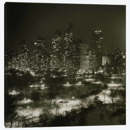 Winter Central Park Canvas Print #PCA329} by Print Collection Canvas Wall Art