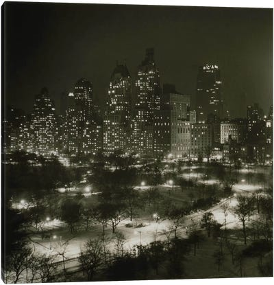 Winter Central Park Canvas Art Print