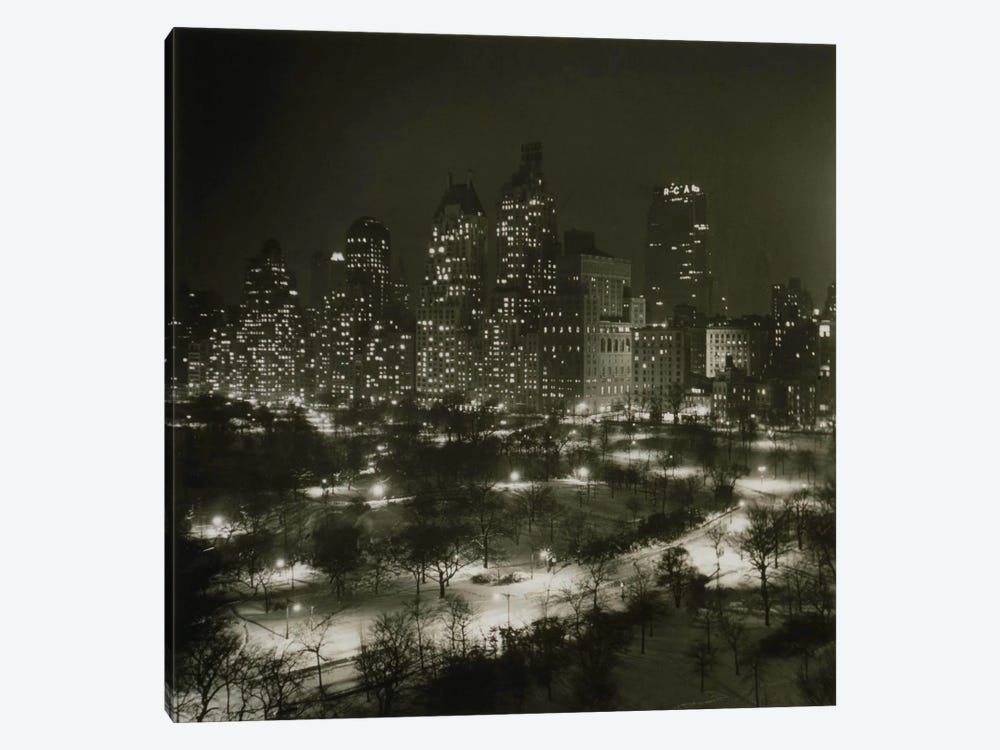 Winter Central Park by Print Collection 1-piece Canvas Art