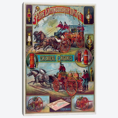 Fire Extinguisher Mfg Co. Canvas Print #PCA330} by Print Collection Art Print