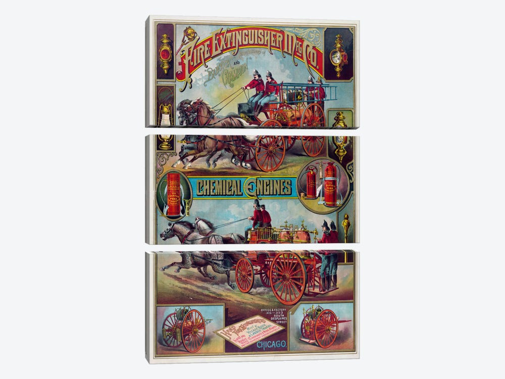 Fire Extinguisher Mfg Co. by Print Collection 3-piece Canvas Art