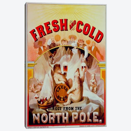 Fresh and Cold--Direct from the North Pole Canvas Print #PCA331} by Print Collection Canvas Print