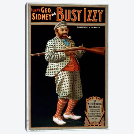 Funny George Sidney as Busy Izzy Canvas Print #PCA332} by Print Collection Canvas Print