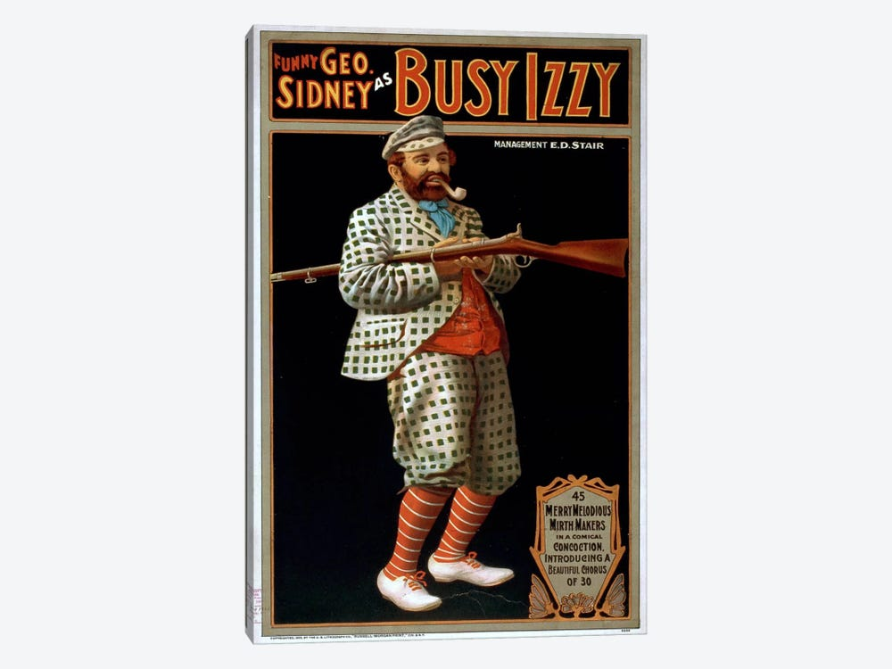 Funny George Sidney as Busy Izzy by Print Collection 1-piece Canvas Wall Art