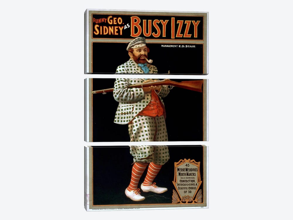 Funny George Sidney as Busy Izzy by Print Collection 3-piece Canvas Artwork