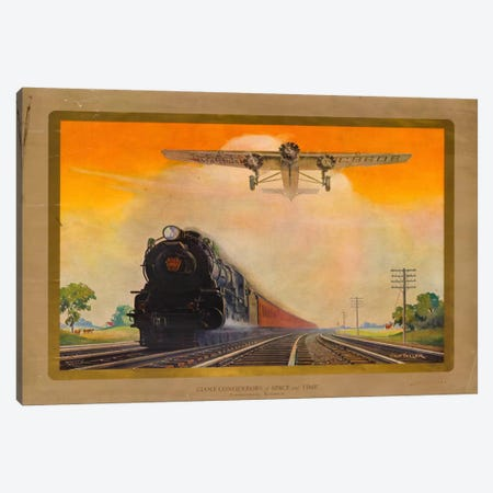 Giant Conquerers of Space and Time Pennsylvania Railroad Canvas Print #PCA333} by Print Collection Canvas Art Print
