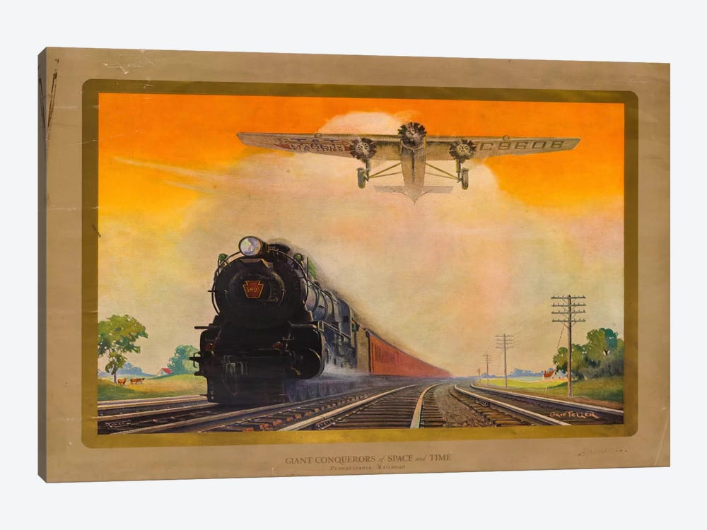 Giant Conquerers of Space and Time Pennsylvania Railroad by Print Collection 1-piece Art Print