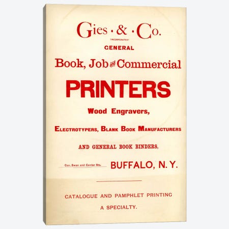 Gies & Co Incorporated Canvas Print #PCA334} by Print Collection Canvas Artwork