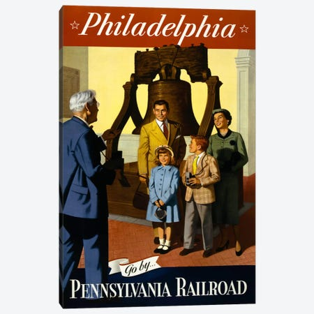 Go by Pennsylvania Railroad Canvas Print #PCA337} by Print Collection Canvas Artwork