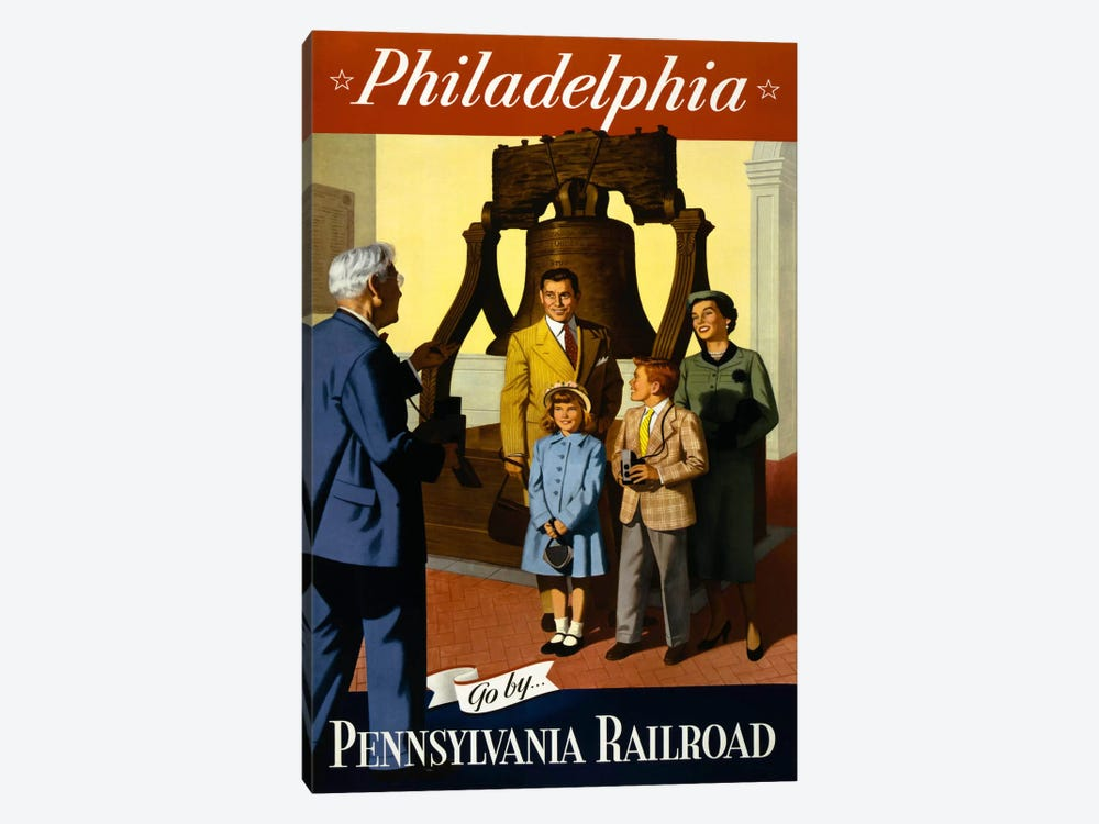 Go by Pennsylvania Railroad by Print Collection 1-piece Art Print