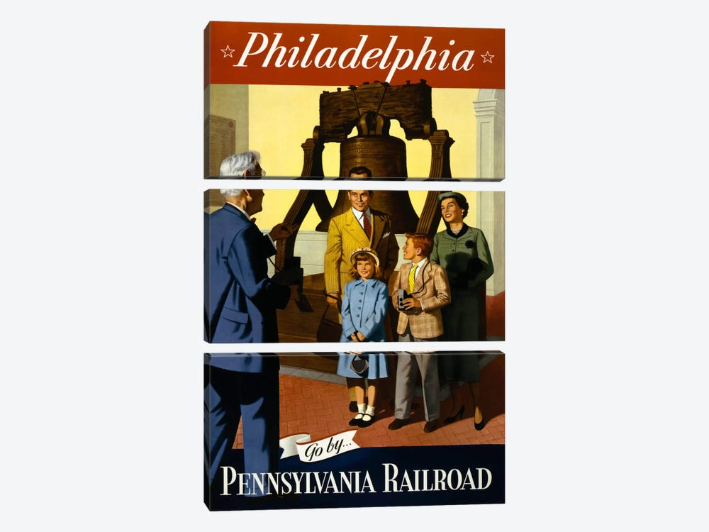 Go by Pennsylvania Railroad by Print Collection 3-piece Art Print