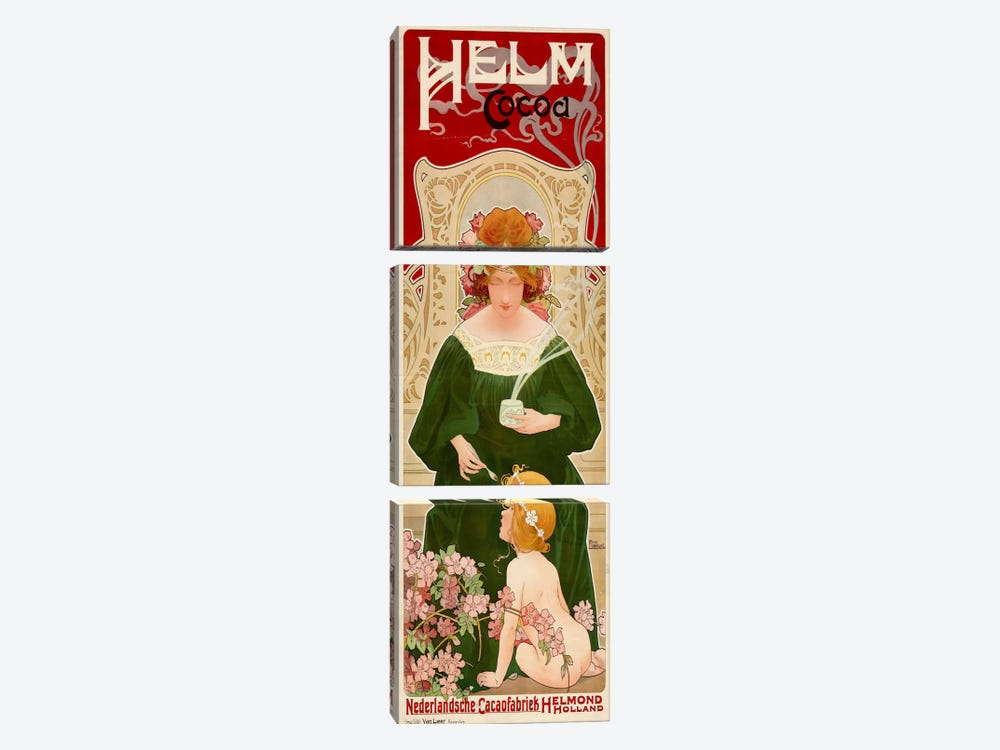 Helm Cocoa, Holland by Print Collection 3-piece Canvas Art Print