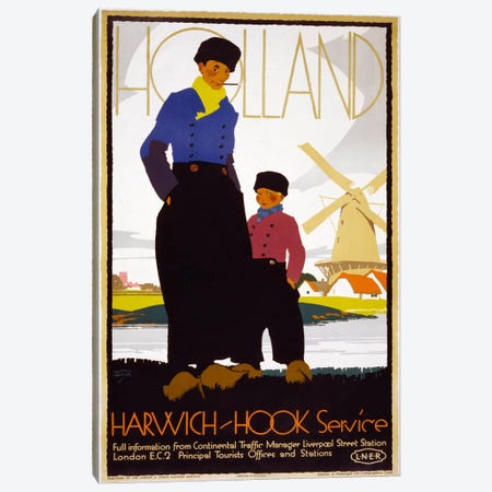 Holland, Harwich-Hook Service Canvas Print #PCA340} by Print Collection Canvas Artwork