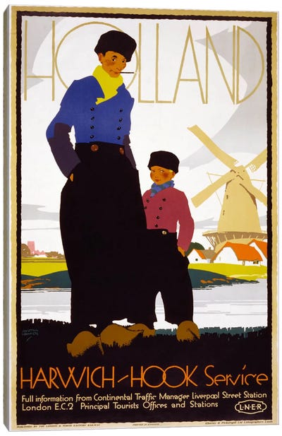 Holland, Harwich-Hook Service Canvas Print #PCA340