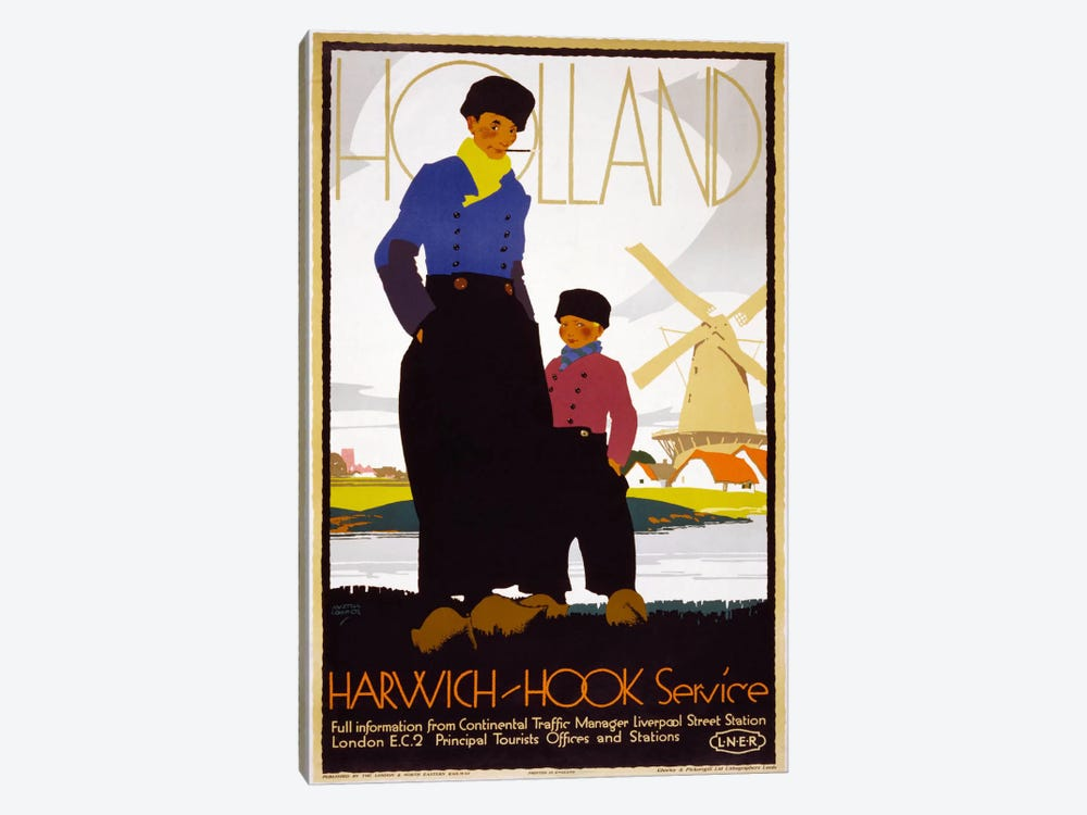Holland, Harwich-Hook Service by Print Collection 1-piece Canvas Print