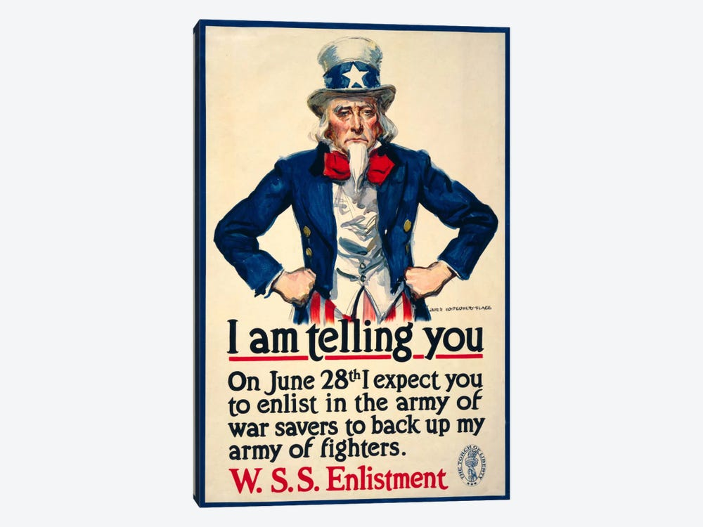 I Am Telling You by Print Collection 1-piece Art Print