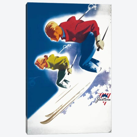 Jantzen by Binder Man and Women, Ski 1947 Canvas Print #PCA344} by Print Collection Canvas Print