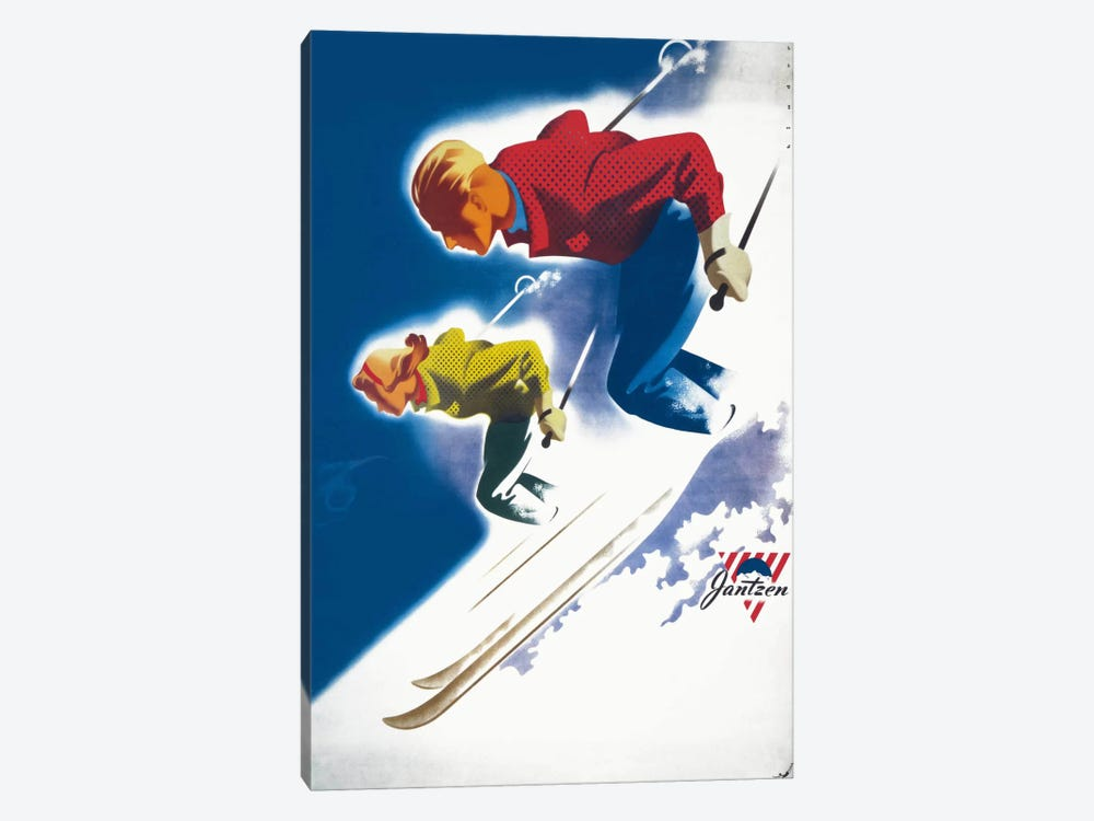 Jantzen by Binder Man and Women, Ski 1947 by Print Collection 1-piece Canvas Print