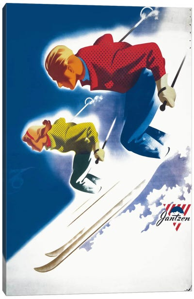 Jantzen by Binder Man and Women, Ski 1947 Canvas Art Print