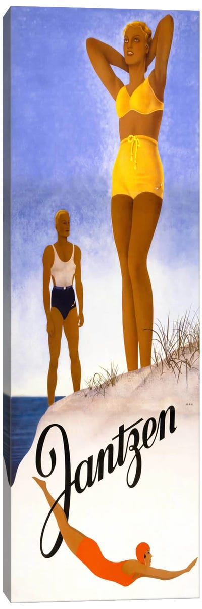 Jantzen Yellow Bikini Canvas Art Print