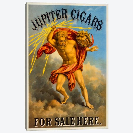 Jupiter Cigars For Sale Here Canvas Print #PCA348} by Print Collection Canvas Wall Art