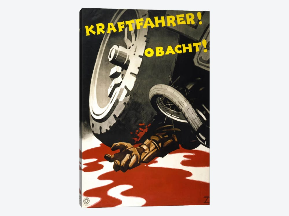 Kraftfahrer! Obacht! by Print Collection 1-piece Canvas Wall Art