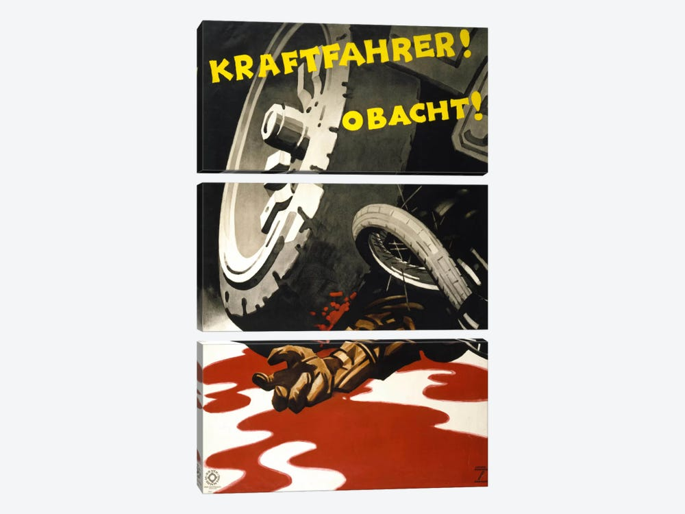 Kraftfahrer! Obacht! by Print Collection 3-piece Canvas Artwork