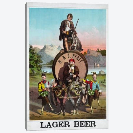 Lager Beer Canvas Print #PCA350} by Print Collection Canvas Art Print
